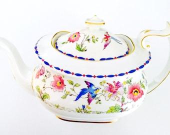 Star Paragon 1920's Floral Bird Teapot