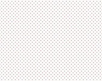 1 Yard- CORAL Swiss Dot by Riley Blake Designs- 660-54
