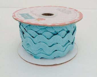 3/4 inch Ric Rac-Aqua (5 Yard Bundle) Riley Blake Designs