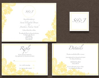 Lovely Lace Invitation Suite