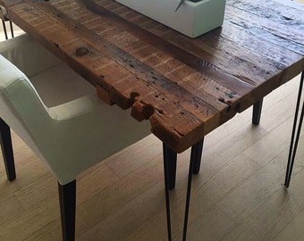 Reclaimed wood dining table   Etsy