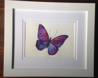 Stellar Butterfly Original Watercolor Painting