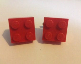 Upcycled Red  brick cufflinks. Gifts for him. Fathers day gifts, wedding gifts