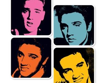 Elvis Presley Pop Art Coasters (set of 4)