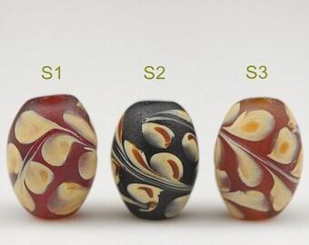 Lamp work 14x19mm Paint Drum bead barrel bead Glaze Bead Glass Beads Lucky Bead Design Charm DIY bracelets Bead Supply