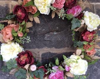Peony Burst Spring Wreath