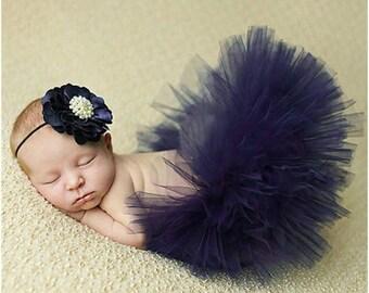 Baby Girl Photo Prop Tutu Skirt with HeadBand 0-6Months