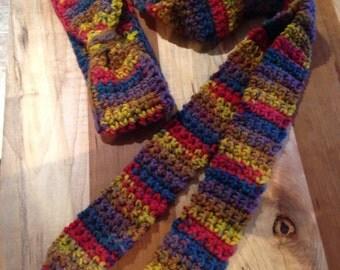 Super sassy & bright headband with scarf!