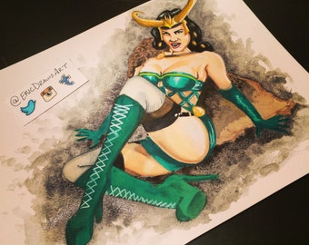 Lady Loki Betty Page vintage boudoir pinup