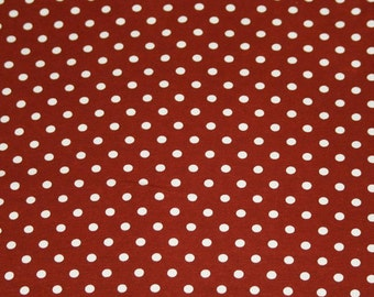 Knit Brown with Small White Dots Fabric 1/2 yard