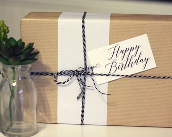 Birthday Gift Tags w/ baker's twine (Set of 10)