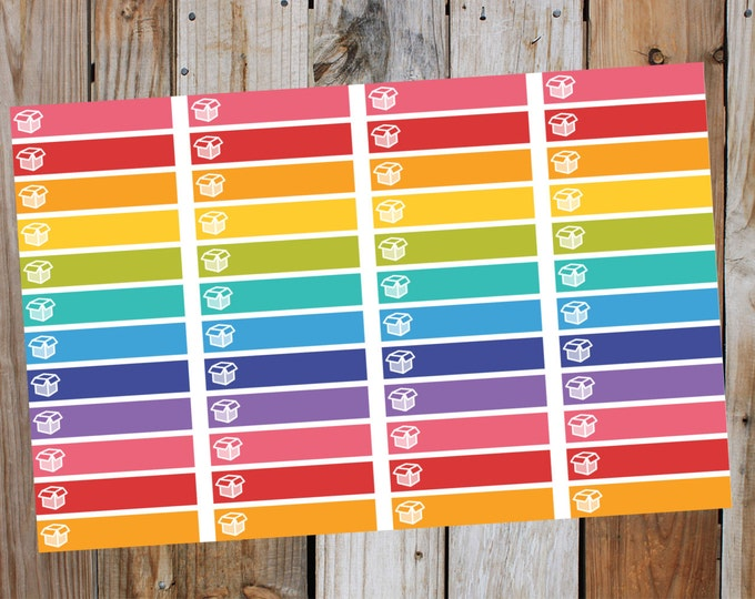 Package Stickers Little Extras Headers / Planner Stickers / (48 Count) Rainbow Collection | for use with ERIN CONDREN LifePlanner