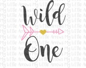 Wild One SVG, DXF, EPS, png Files for Cutting Machines Cameo or Cricut // tribe svg // arrow svg // first birthday svg // one svg