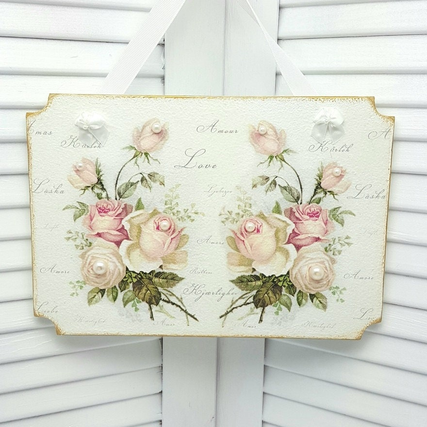Cottage chic decor shabby chic wall decor cottage decor for Shabby chic cottage decor