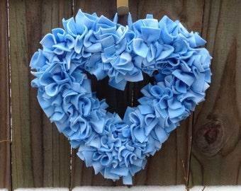 Baby Shower Wreath, Baby Boy Wreath, It's A Boy Wreath, Baby Shower Gift, Heart Wreath, Baby Nursery Wreath