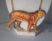 tiger cat devine safari animal woodcut wooden lasercut