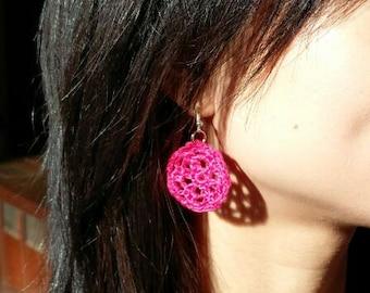 Wheel Crocheted Earrings
