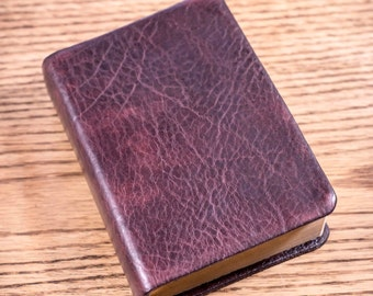 Full Grain Cowhide Leather Bible, KJV Large Print Compact