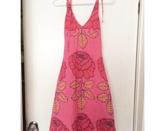 Marimekko 'Maalaisruusu' halter dress - Size 2