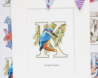 Alphabet Pictures - K : Personalised Prints
