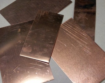 Copper Scrap - Squares & Rectangles - 1 lb - FREE SHIPPING with Quantity Discounts.