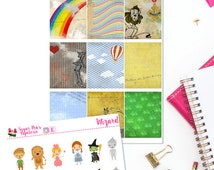 Wizard of Oz Planner Stickers for the Vertical Erin Condren Life Planner, Scrapbook Stickers, Dorothy