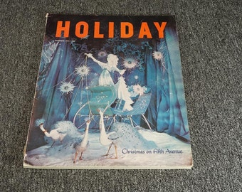 Vintage Holiday Magazine Dec. 1951 Issue C.1951