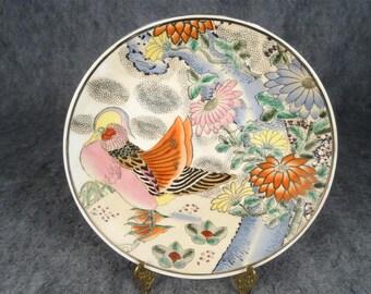 Chinese Zhuanshu Hand-Painted Decorative Plate.