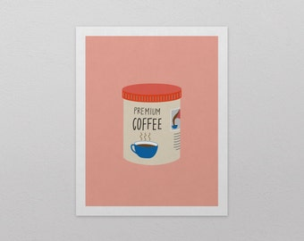 "Coffee Tin Art Print (8"" x 10"")"