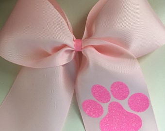 Pink Cheer Bow Paw