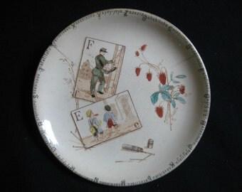 French Antique plate-Terre De  Fer HB-CHOISY de Roi-Collectible Collection