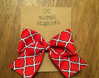 Red and navy bow