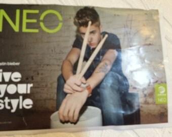 Signed justin bieber poster