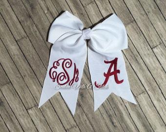 Alabama Monogrammed Bow, Roll Tide
