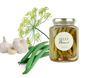 Gourmet Dilly Beans // All Natural // New Hampshire Home Grown // 12oz