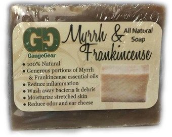 Myrrh and Frankincense All Natural Soap | Gauge Gear® | Stretched Ear Aftercare | Piercing Aftercare