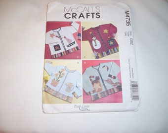 4 Seasons Sweatshirts  to Appliques for women   Mccalls   pattern #  M4735 and   is uncut
