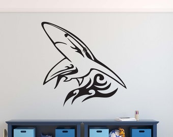 Tribal Shark Etsy