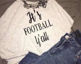 It's Football Yall iron on / Its football yall / glitter football / iron on football / football