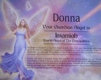 Personalized Guardian Angel print Your Guardian Angel Gift for daughter, grandma mom friend