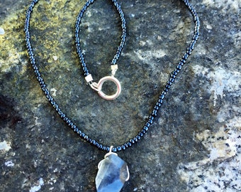 Labradorite Beaded Shimmer Necklace