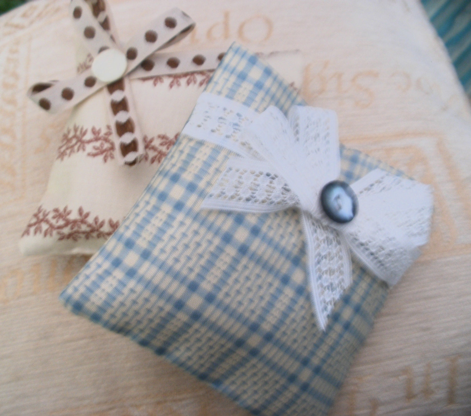 Lavender Bags Dried Lavender Cotton Sachet Ribbon