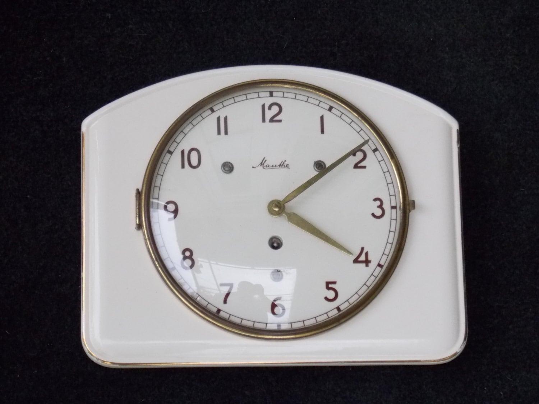 Ceramic Clock Mauthe Wall Clock Art Deco Wall Clock