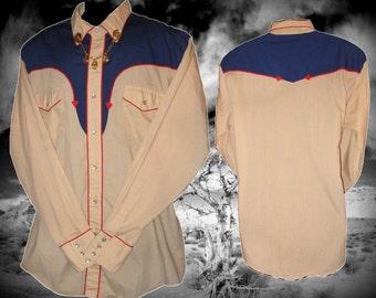 Fenton Vintage Western Men's Shirt, Size Large
