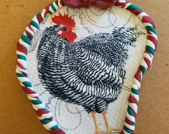 Chicken Christmas ornament