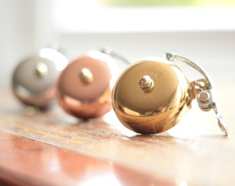 Handmade Bicycle Bell - Available in brass, silver and copper (rose gold) - Temple Cycles, high quality bike parts and accessories