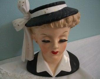Napco Head Vase, 1956 Lucille Ball, C2633C