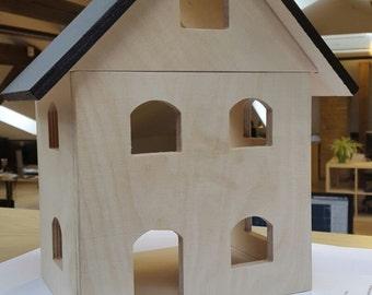 DollHouse Wooden Blackboard Roof Birthday Christmas Gift