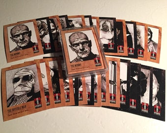 Classic Horror & Science Fiction Trading Cards 27-card set