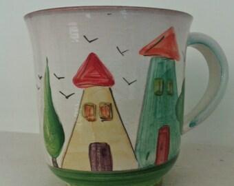 House mug no. 2/ Κούπα με σπιτάκια νο. 2